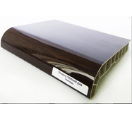 Подоконник ПВХ  Sauberg  100х1000 ламинация глянец  темный дуб