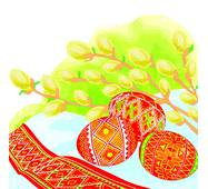 """Салфетка  ТМ """" La Fleur""""  ЗЗхЗЗ,  2 слоя """"Ива и пасхальные яйца"""" 20шт."""
