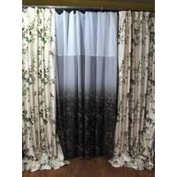 Готовый комплект штор с птицами Dekoma в гостиную, спальную, зал