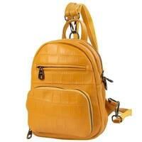 TRC Сумка-рюкзак Vito Torelli Рюкзак жіночий шкіряний VITO TORELLI VT - 5005 - yellow
