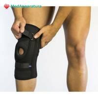 Бандаж для фиксации коленной чашечки неопреновый Алком 4038, 1-6 размер, черный