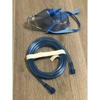 Киснева маска для концентратора і кисневої подушки для дорослих в комплекті з кисневою трубкою