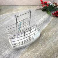 Підставка навісна з нержавіючої сталі Kamille для ложок і вилок 17*6.5*15.5см