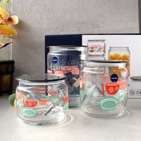 Набор банок для сыпучих Luminarc Jar Kitchen Blis 3 шт с серыми крышками (Q3833)