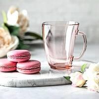Пьяная розовая стеклянная кружка 320 мл Luminarc Шейп (Q0391)
