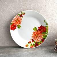 """Тарелка плоская обеденная с цветами 20.5 см 8""""  """"Астра"""" (4396)"""