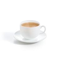 Кофейный сервиз белый из стеклокерамики Luminarc Essence White 6 шт 90 мл (P3404)