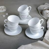 Сервиз белый чайный Luminarc Cadix 12 предметов 220 мл 6 шт (37784)