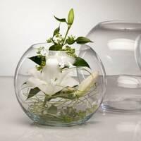 Скляні попільнички, свічники і вази