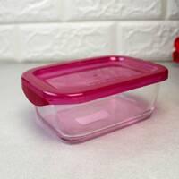 Пищевой контейнер Luminarc Keep`N прямоугольный с малиновой крышкой 380 мл (SD448)