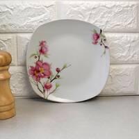 Тарелка квадратная подставная плоская 23,5 см Сакура (4375)