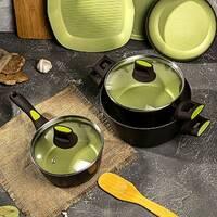 Алюминиевая кастрюля 2.2л Ardesto Avocado для всех видов плит, посуда для индукции