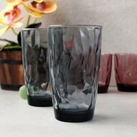 Набор высоких цветных стаканов с гранями 470 мл Bormioli, Топаз Диамант