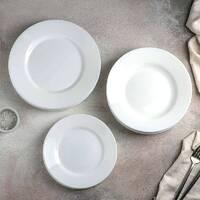 Столовий білий класичний склокерамічний сервіз Luminarc Everyday 19 предметів (G0567)