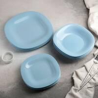 Набір блакитного столового посуду Luminarc Carine Light Blue 18 предметів (P7629)