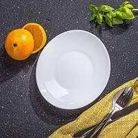 Десертна овальна біла тарілка Bormioli Prometeo 22*19 см, ресторанний посуд