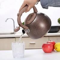 Чайник Kamille 2.5 л з нержавіючої сталі зі свистком і бакелітовою ручкою для індукції
