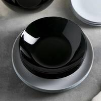 Чорна супова тарілка Luminarc Diwali Black 20 см (P0787)