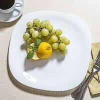 Плоска біла квадратна тарілка із склокераміки Bormioli Parma 27 см