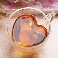 Чашка с двойным дном в форме сердца 300 мл, чашки с двойными стенками