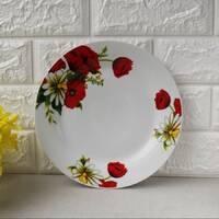 """Плоская обеденная тарелка с маками 20.5 см  8"""" """"Мак и Ромашка"""" (4356)"""