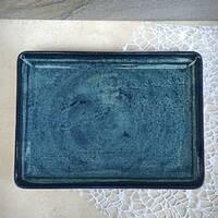 """Фарфорова тарілка прямокутна бірюзова Kutahya Porselen """"Corendon"""" 230*170 мм (NB3523)"""
