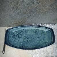"Тарелка бирюзовая из фарфора овальная Kutahya Porselen ""Corendon"" 360х210 мм (NB3436)"