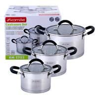 Набор кастрюль Kamille посуда из нержавеющей стали 6 предметов для всех видов плит