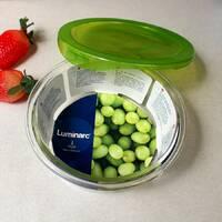 Пищевой контейнер круглый стеклянный Luminarc Keep'n'box 670 мл зелёный (p4527)
