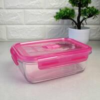 """Контейнер прямоугольный с розовой крышкой Luminarc """"Pure Box"""" 21*14,5*7 см 1220 мл (P4590)"""