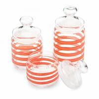 Набор стеклянных банок с розовым декором Luminarc Spiral 3 шт (Q0397)