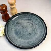 Бирюзовое плоское блюдо для общей подачи Kutahya Porselen Corendon 300 мм (NB3030)