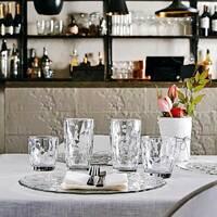 Широкие низкие стаканы с гранями Bormioli Diamand 300 мл, Бормиоли Диамант