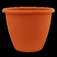Терракотовый вазон для цветов больших размеров 31.5л 45*34 см, напольный вазон
