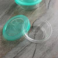 Круглый пищевой контейнер с бирюзовой крышкой Keep`N 420 мл (P5525)