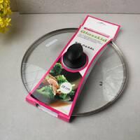 Крышка стеклянная 28 см для кастрюль и сковород Kamille с металлическим ободком