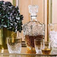 Набор для виски графин 0,8 л+ 6 стаканов Bormioli Rocco Dedalo, подарок для мужчин