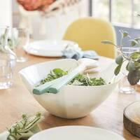 Білий салатник з виїмкою для салатних приладів Luminarc Salenco 200 мм