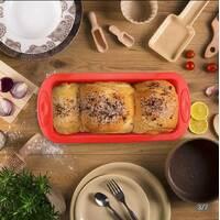 Прямокутна силіконова форма для хліба і кексу з жорсткою основою