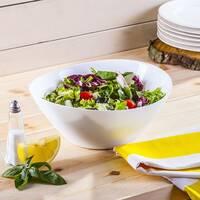 Овальна біла салатниця Bormioli Prometeo 25*24 см, білий салатник