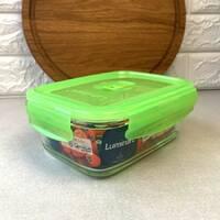 """Контейнер прямоугольный с салатовой крышкой Luminarc """"Pure Box"""" 17,5*12,5*7 см 820 мл (P4569)"""