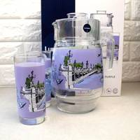 Набор для напоїв  Luminarc Love Romance Purple 7 предметів (Q5667)
