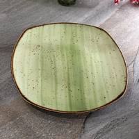 "Квадратна зелена тарілка Kutahya Porselen ""Corendon"" 270 мм (GR3227)"