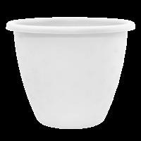 Невеликий білий квітковий горщик 3.2л 21*16.5 см, квітковий вазон