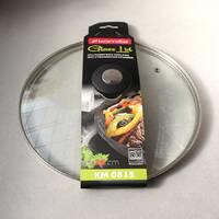 Крышка стеклянная Kamille 26 см с металлическим ободком