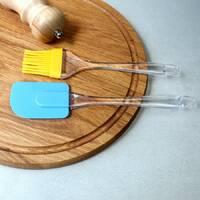 Набор силиконовая лопатка поварская+кисточка 2 пр