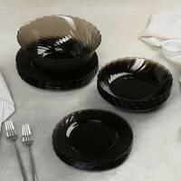 Набір столового посуду коричневий з супником Luminarc Ocean Eclipse 19 предметів (L5108)