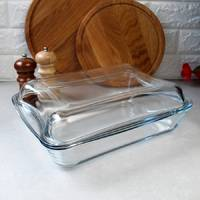 Скляна форма для духовки з кришкою 4.4 л Simax, скляна каструля