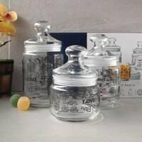 Набор стеклянных банок в ромбик Luminarc Jar Love Pasta 3 шт 0,5+0,75+1 л (P6675)