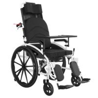 Ручна доладна інвалідна коляска з туалетом MIRID S119. Багатофункціональне інвалідне крісло.